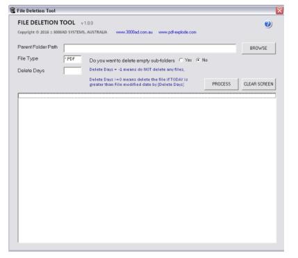 fDELETE - File andFolder Deletion Utility software – PDF-eXPLODE com